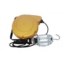 Enrollador con lámpara transformador 15.5m.