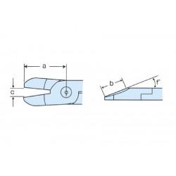 Cuchilla corte plástico