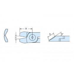 Cuchilla reforzada corte metal